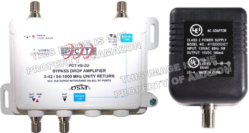 Cable Modem Signal Booster : Pct port active return cable tv splitter signal booster