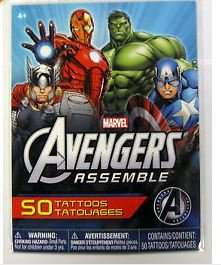 Savvi Marvel Avengers Assemble Set of 50 Tattoos