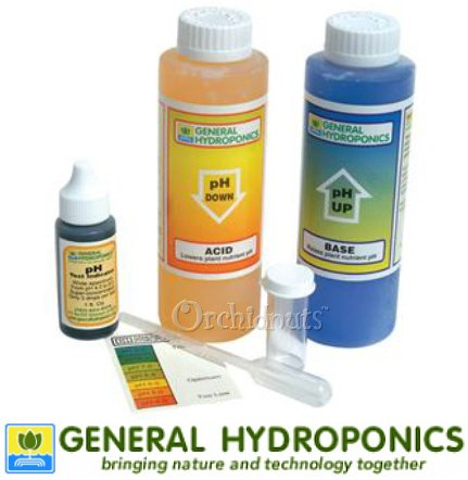 General Hydroponics pH Control Kit - pH Up and Down (8 Ounces), pH Tester