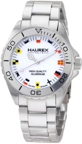Haurex Italy 7K374UWF - Reloj para hombres, correa de aluminio color plateado