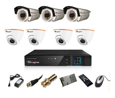 Tentronix-T-8ACH-7-D4BA310-8-Channel-AHD-Dvr,-4(1MP/36IR)-Dome,-3(1MP/36IR)-Bullet-Cameras-(With-Accessories)