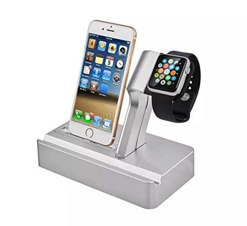TopSun Ultralight prodotti Apple 4in 1staffa, supporto per Apple Watch, iPhone Supporto di ricarica, Docking Station Dock supporto per Apple Watch e ABS per iPod, iPhone, iPad e altri telefoni compresse