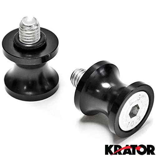 Krator Low Profile 8mm Black Swingarm Spools (Fits Most Honda / Suzuki Bikes) HONDA CBR 600RR 1000RR 900RR 954RR SUZUKI GSXR 600 750 1000 1100 1300R HAYABUSA (Cbr 900rr Tire compare prices)