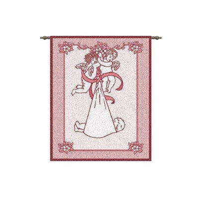 New Angel And Baby Girl Tapestry Hanging Art