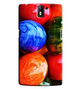 Omnam Coloful Round Stones Printed Designer Back Cover Case For One Plus One