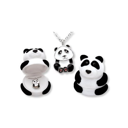 Panda Bear Pendant Necklace in Figural Gift Box: Toys & Games