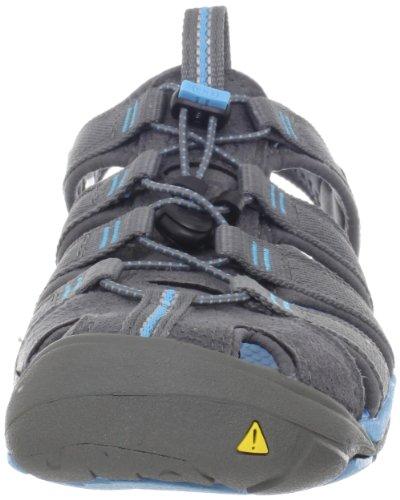 KEEN Women's Clearwater CNX Sandal,Gargoyle/Norse Blue,7.5 M US