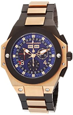 Chase-Durer Men's 880.84LP-BRA Conquest Chronograph Special Edition No. 2 18K Rose Gold-Plated Watch