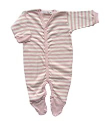 Under The Nile Footie, Pink/Stripes, 3-6 Months