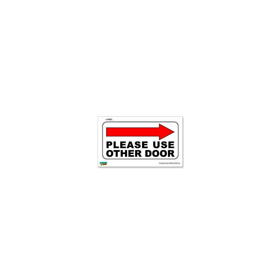 Please Use Other Door Right Arrow   Business Store Door Sign   Window Wall Sticker Automotive