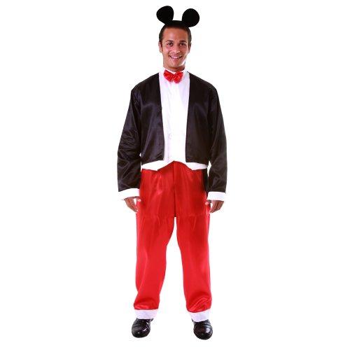 397-XL - Erwachsenen-Kostüm Set Mr. Maus in Deluxe-Ausführung, Größe XL, mehrfarbig