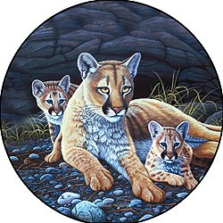 Mountain Lion & Cubs Spare Tire Cover for Jeep RV Camper VW etc(ALL SIZES AVAILABLE) (Lion Spare Tire Cover compare prices)