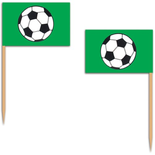Soccer Ball Picks Party Accessory (1 count) (50/Pkg)