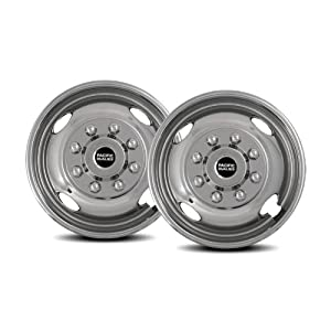 Pacific Dualies 31-2608A 16″ Polished Stainless Steel Wheel Simulator Front Tag Axle Kit for 2003-2004 Ford F350 Truck RV Motorhome