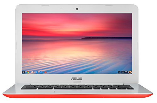 ASUS Chromebook 13-Inch HD dengan Gigabit WiFi, 16GB Storage & 2GB RAM (Warna Merah)
