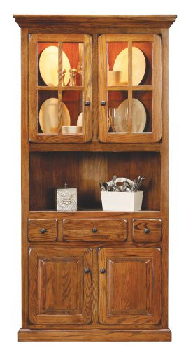 Corner Dining Hutch/Buffet by Eagle - Burnished (67104)