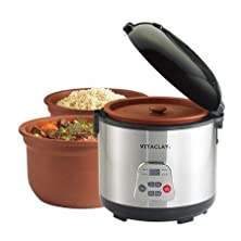 buy Vitaclay High-Fired 2-In-1 Rice N' Slow Cooker, 6 Cup