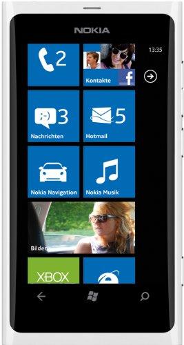 Nokia Lumia 800 Smartphone (9,4 cm (3,7 Zoll) AMOLED-Touchscreen, 8 Megapixel Kamera, Micro-SIM, Windows Phone Mango OS) weiß
