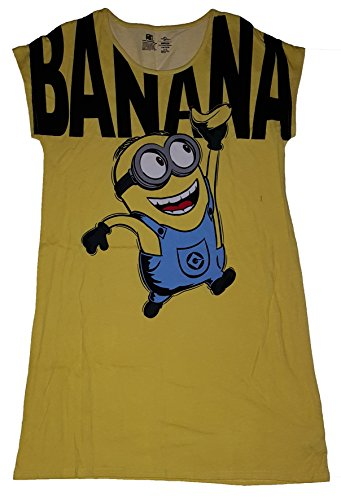 Despicable Me Minions Banana Nightgown Long Sleep Shirt - SM/MED