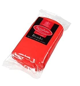 500g Christmas Poppy Red Regalice Ready Roll Icing - Cake Covering Sugar Paste