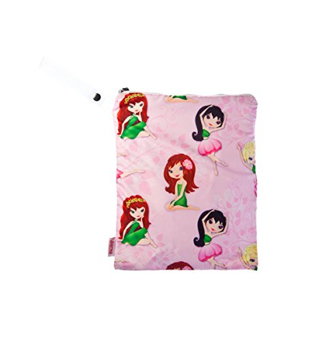 NUBY Washable Wet Bag, Flower Girl