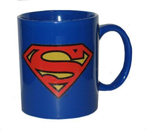 Superman Logo Ceramic Coffee Mug - 12 Oz.