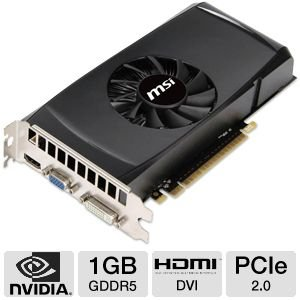 MSI NVIDIA GeForce GTX 550 1GB GDDR5 VGA/DVI/HDMI PCI-Express Video Card N550GTX-TI MD1GD5 V2