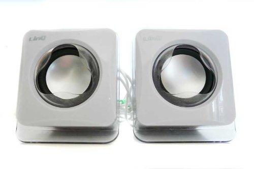 LinQ Design USB Lautsprecher Boxen für Laptop in weiß