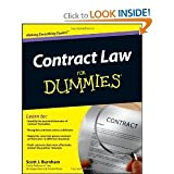 img - for Contract Law For Dummies byBurnham book / textbook / text book