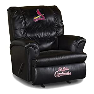 MLB St. Louis Cardinals Big Daddy Leather Recliner by Imperial