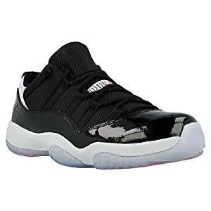 Nike Air Jordan 11 Retro Low Men Sneakers Black/Pure Platinium/Infrared 23 528895-023 (SIZE: 10)