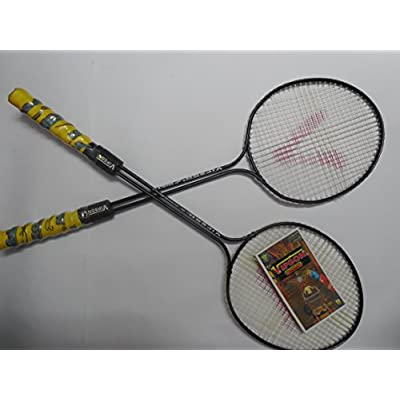 Vipson Double Shift Aluminium Forever Badminton Rackets With Carry Bag (Black_Large)