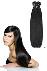 Indian hair 100% Remy human hair u tip hair extensions: 23
