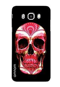 Omnam Red Face Skelton On Black Background Printed Designer Back Cover Case For Samsung Galalxy J5 (2016)