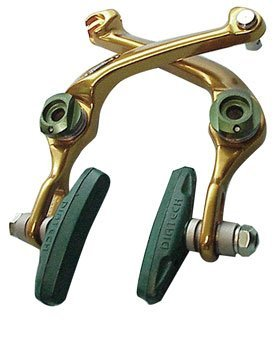 Image of DiaTech Hombre 996 U-Brake Fiesta Front or Rear Gold/Green (B000OQIEOE)