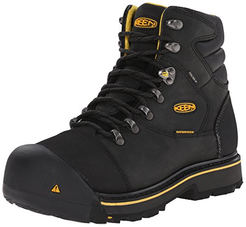 KEEN Utility Men's Milwaukee WP Work Boot,Black,9 D US