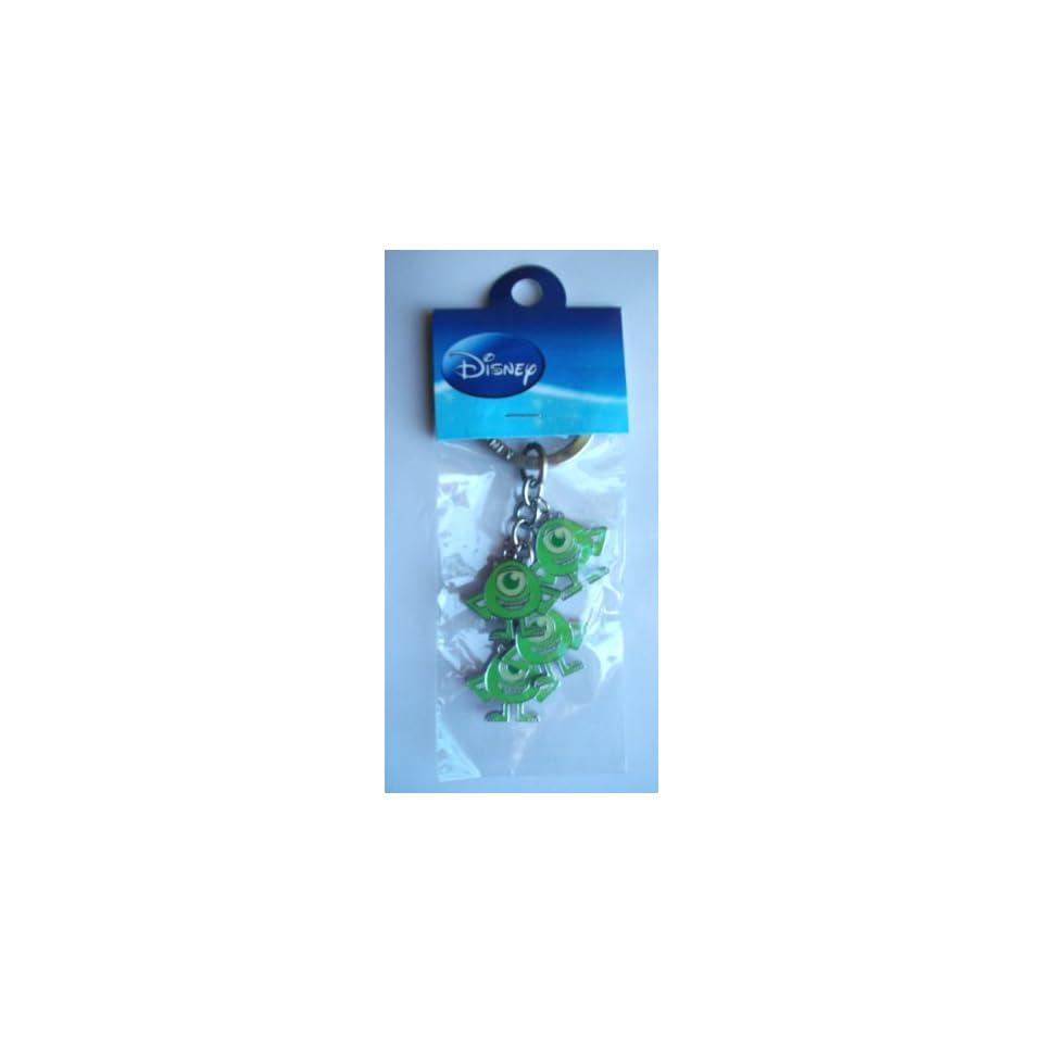 Disney Monsters Inc. Green Mike Metal Charm Key Ring ~Alien Monsters~