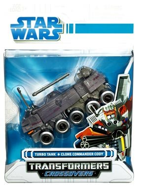 Star Wars Clone Wars Transformers Crossovers Turbo Tank to Clone Commander Cody (Transformers Tank compare prices)