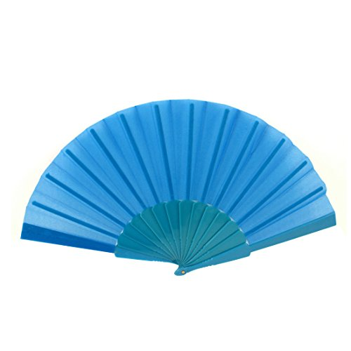Plastic Rib Chinese Style Wedding Party Gift Folding Hand Fan Teal