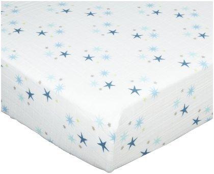 aden + anais Organic Muslin Crib Sheet, Starstruck