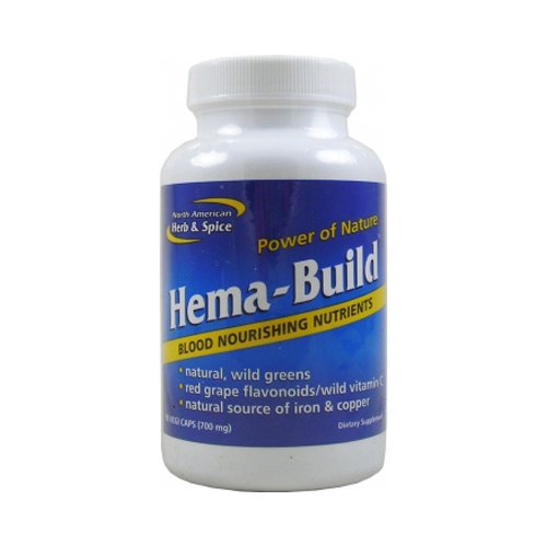 North American Herb and Spice Hema-Build Capsules, 90 Count