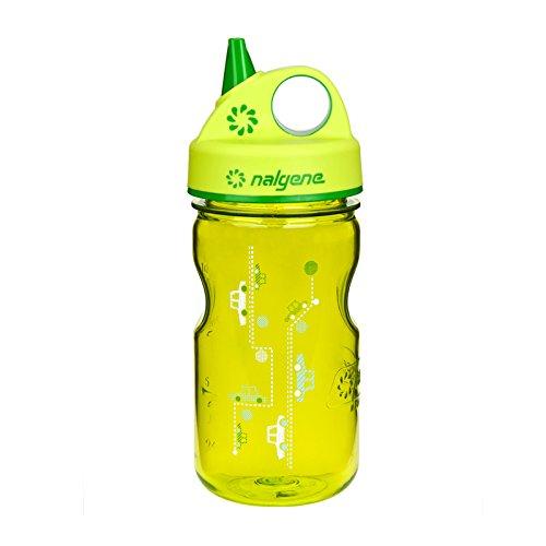nalgene-grip-n-gulp-water-bottle-spring-green-cars-12-ounce