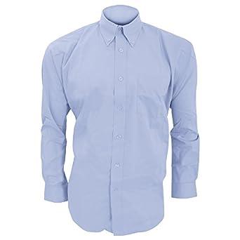 Kustom Kit Mens Long Sleeve Corporate Oxford Shirt (14.5inch) (Light Blue)