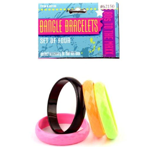 80s Bangle Bracelets (Set of 4)