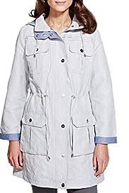 Per Una Detachable Hood Drawstring Thermal Mac with Stormwear [T62-0601J-S]