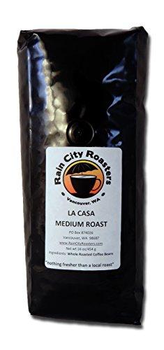 "Rain City Roasters Micro-Roasted Whole Bean Coffee 16Oz ""La Casa"" Medium"