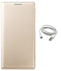 AravStore Leather Case & Data Cable For- Water1 -Gold