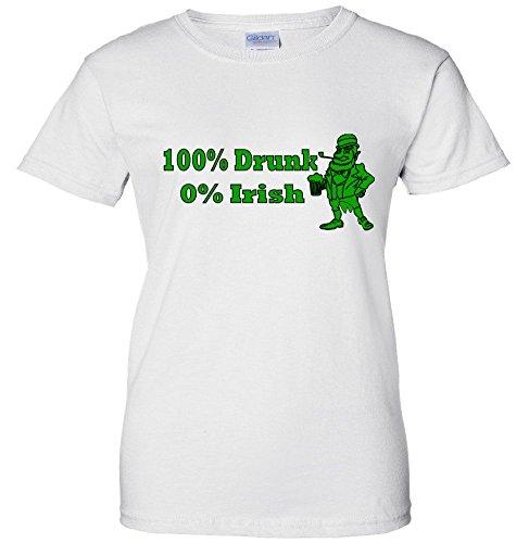 100% Drunk 0% Irish Funny Beer St. Patrick's Day Women's T-Shirt