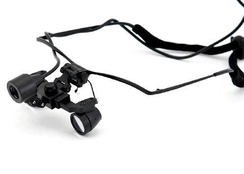 Super Small 20Mm Diameter Lens!Waterproof Ultra-Light 50G!! 3X,Depth Of Field: 300Mm, Working Distance:250-550Mm,Half Frame Binocular Dental Surgical Medical Loupes & Light
