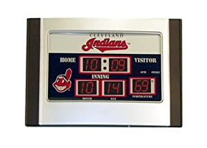 Cleveland Indians MLB Scoreboard Desk Clock (6.5x9) by Team Sports America